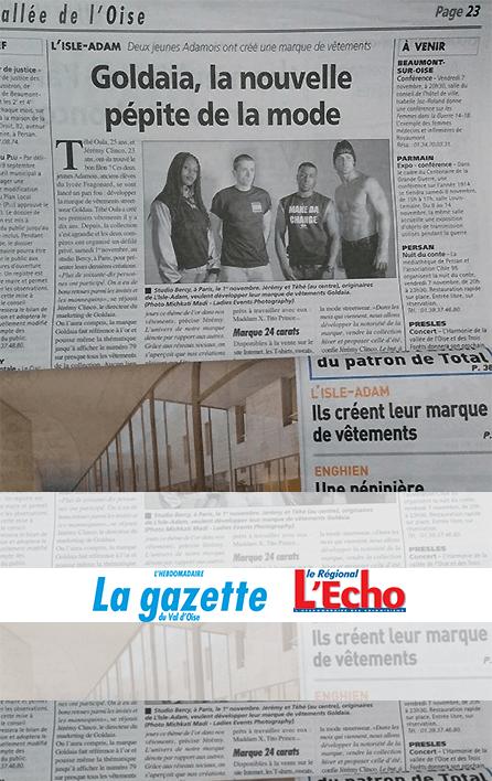 Journal La Gazette du Val d'Oise & l'Echo Régional